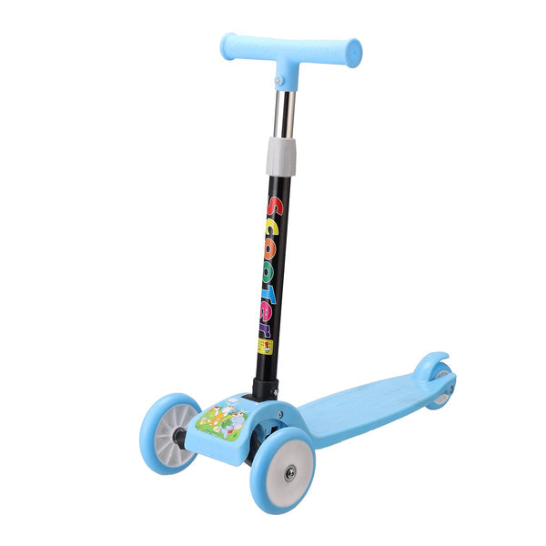 Children Scooter Tricycle Baby With 3 Smooth LED Light Up Flashing Wheels and Adjustable Heigh Balance Bike Ride On Toys Kids
