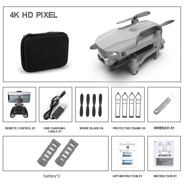 FPV Mini Drone With/without HD 4K Dual Cameras 1080p R16 Wifi Foldable Drones With Camera Hight Hold Mini RC Quadcopter Dron Toy
