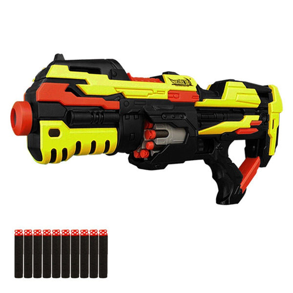 Toy Gun Electric Blaster Airsoft Pistol With 20pcs Soft Bullets Safe Weapon Outdoor Game Toy Gun Electric Burst Soft Bullet Gun