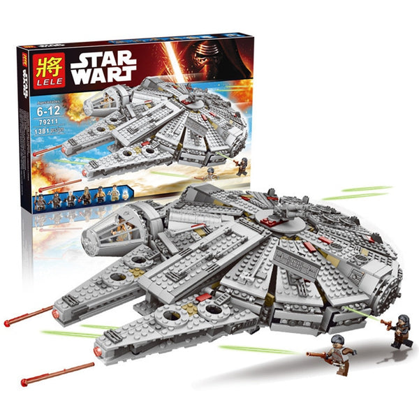 In Stock Starwars Spaceship Millennium Falcon Lepinblock 79211 Figures Building Blocks Star Wars Children X-wing Fighter Toys