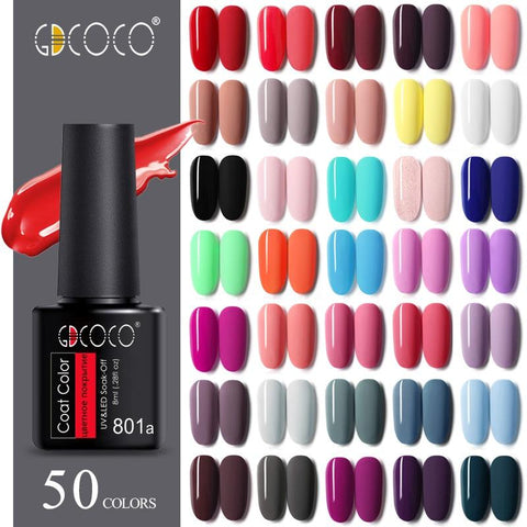 8ml GDCOCO Nail Gel Polish Primer High Quality Cheap Price Gel Varnish NoWipe Top Coat Soak Off UV LED Gel Nail Gel Lacquer