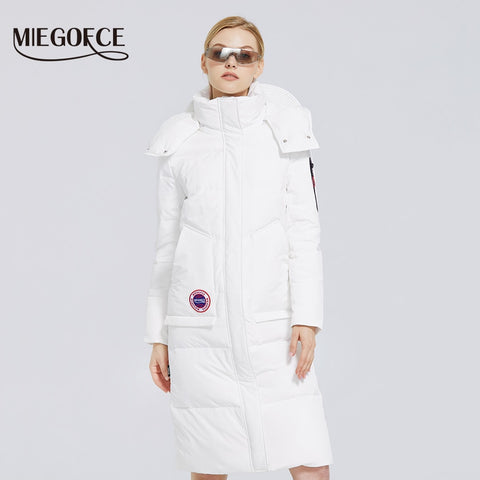 MIEGOFCE 2020 Winter New Women's Cotton Coat Long Jacket Women's Parkas Clothes With miegofce Design Winter Coat Army overcoat