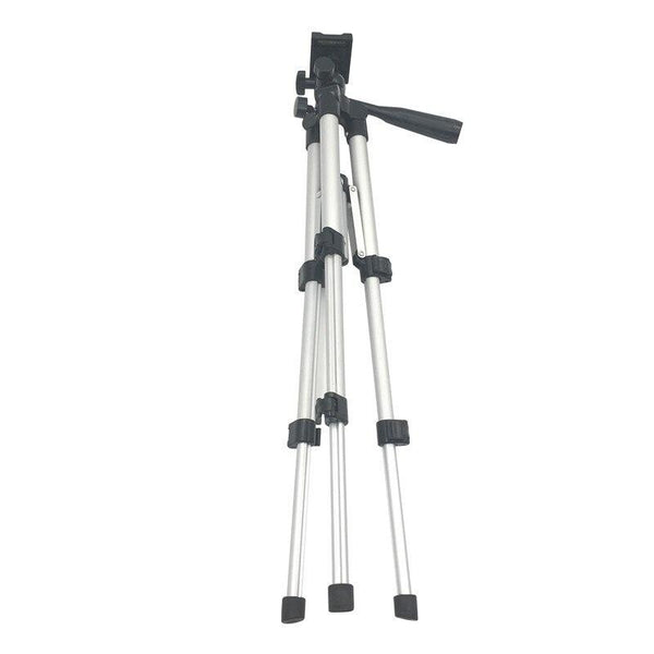Professional Foldable Camera Tripod Holder Stand Screw 360 Degree Fluid Head Tripod Stabilizer Aluminum with Phone Holder