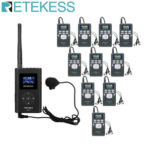 1 FM Transmitter FT11+10 FM Radio Receiver PR13 Wireless Voice Transmission System For Guiding Church Meeting Training