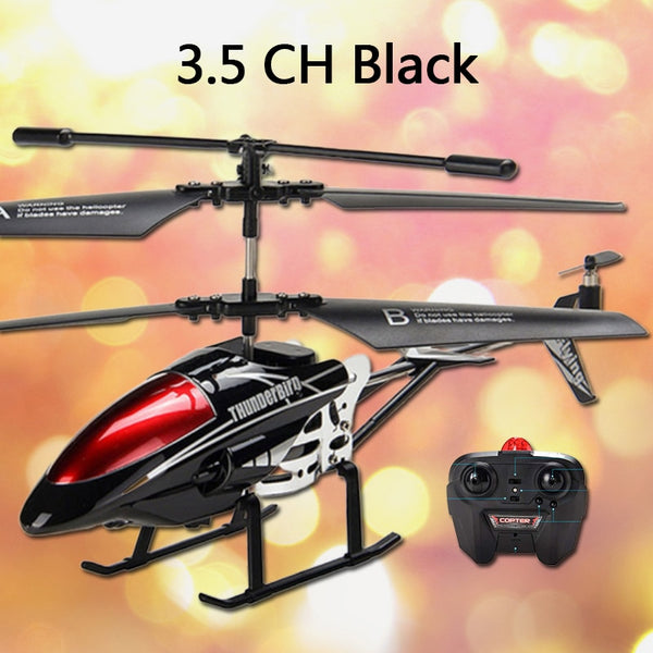 RC Helicopter 3.5 CH Radio Control Helicopter with LED Light Quadcopter Children Christmas Gifts Shatterproof Flying Toys Model
