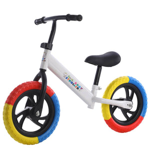 12inch Children Balance Bike Child Bike Balance Bicycle for 2-7 Years Old Kids Learning Walker Outdoor Sports No Pedal Bicycle
