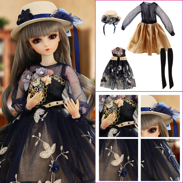 Palace Style Clothes Set For 1/3 BJD Dolls Girls Dress UP Toys Accessories For 60CM Doll Children DIY Dresses Accessories