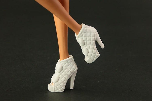 100 pair /  lot  New Fashion high quality  Mix Style Mix Color  High-heel Shoes for barbie Free shipping