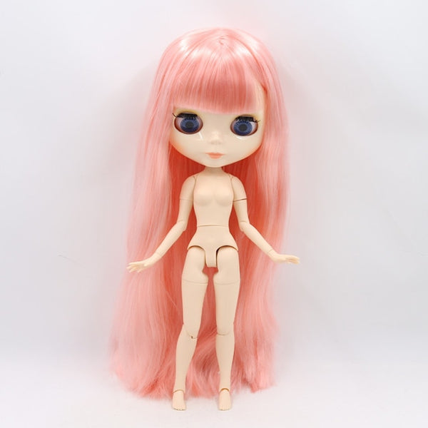 ICY factory Blyth doll 1/6 BJD customized nude joint body with white skin, glossy face, girl gift, toy