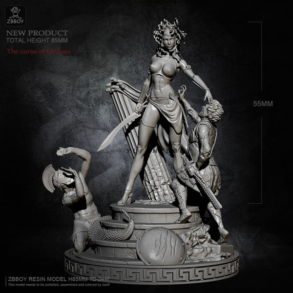 55mm Resin model kits The Curse of Medusa self-assembled TD-2417