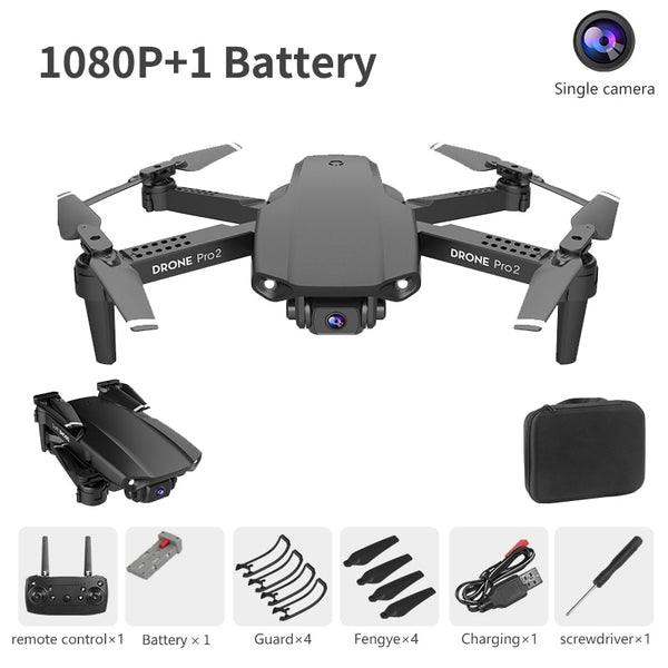 LSKJ E99 Pro2 RC Mini Drone 4K HD Dual Camera WIFI FPV Professional Aerial Photography Helicopter Foldable Quadcopter Dron Toys