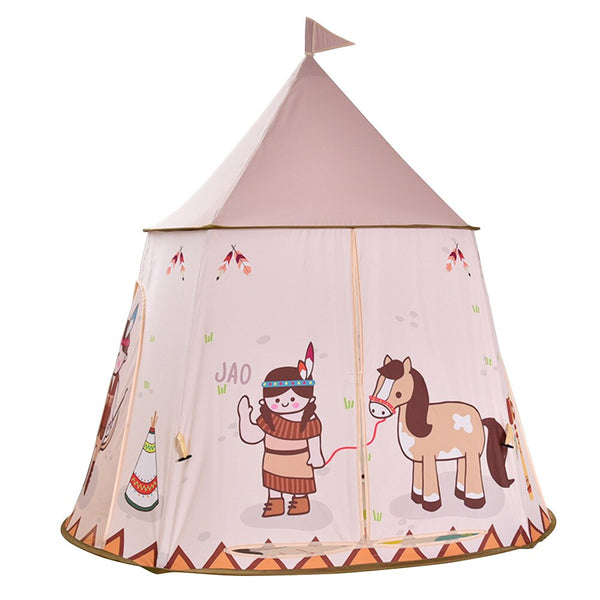 Foldable Children's Tent For Kids Baby Play House Princess Castle Teepee Kids Present Hang Flag Tent Children's Room Toy Gifts