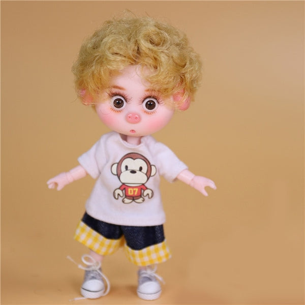 Dream Fairy 1/12 BJD DODO DOLL Pigies toy clothes shoes 14cm mini doll joint body ob11 Cute children gift
