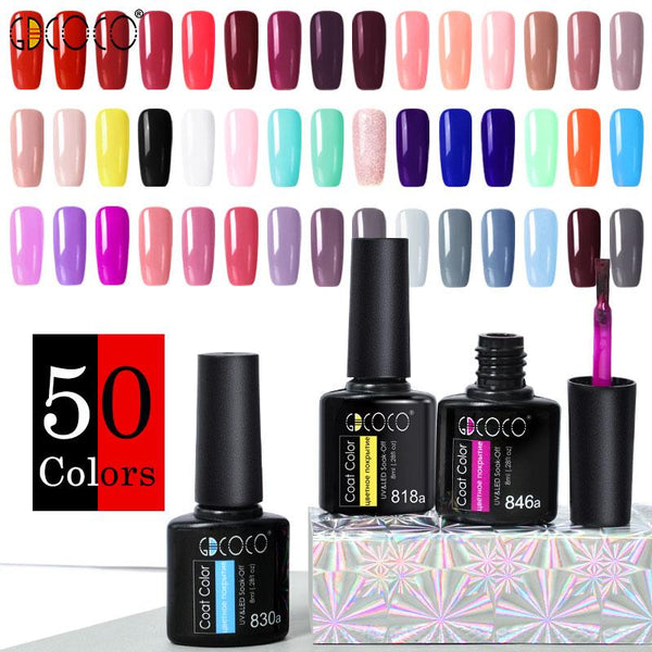 GDCOCO Nail Gel Varnish 8ml High Quality Nail Gel Polish Cheaper Price Plastic Bottle Bright Color Glitter Varnish Nail Gel
