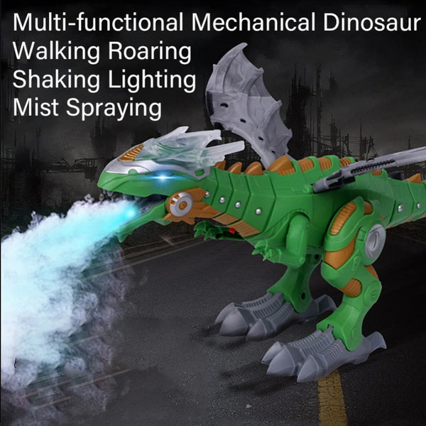 Electric Toy Large Format Walking Spray Dinosaur Robot With Light Sound Mechanical Dinosaurs Model Toy For Kids Children