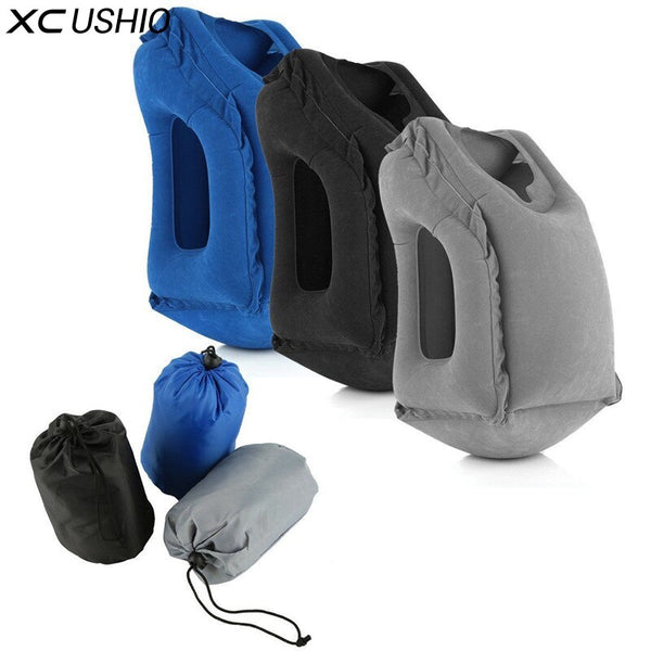 XC USHIO Inflatable Travel Pillow Air Soft Cushion Trip Portable Innovative Products Body Back Support Portable Blow Neck Pillow