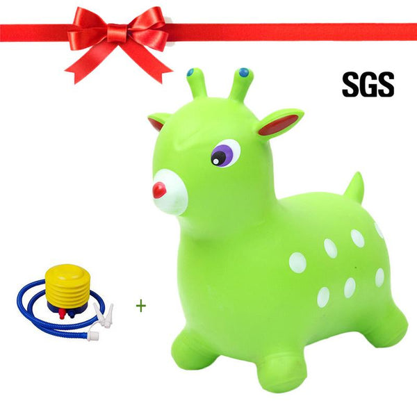 PVC Bouncy Explosion-proof Inflatable Stretch Jumping Rocking Horse Mount Children Balance Practice Vault Horse Riding Toy