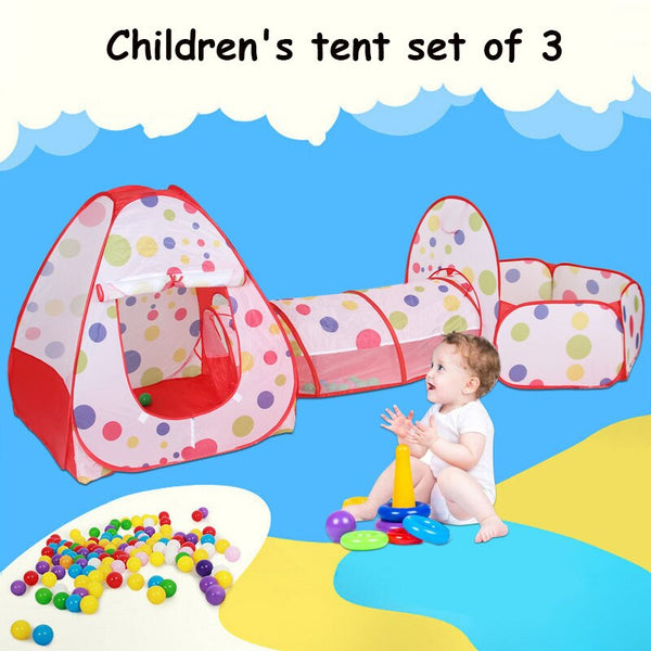 3Pcs/Set Play Tent Baby Kids Play Portable Foldable Pop Up Tunnel Basketball Game Tent Children Outdoor Sports Play Tent gifts