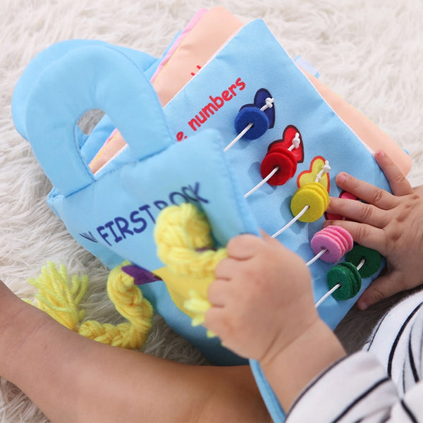 Infant Cloth Book Cartoon Pattern Baby Soft Activity Crinkle Cloth Books Educational Learning Toys 3 Years Old