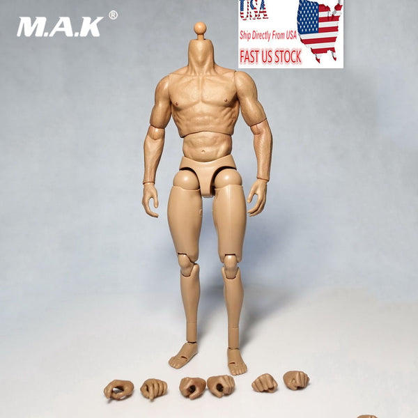 "Collectible 1/6 Scale Male Solider Wolverine 1.0 Muscle Nude Body Male Action Figure 12"" Toy for 1:6 HT Head Sculpt without Neck"
