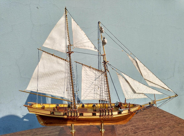 NIDALE model Free shipping Scale 1/96 Classics Antique Harvey Battleship wooden model kits HARVEY 1847 wooden Sailboat model
