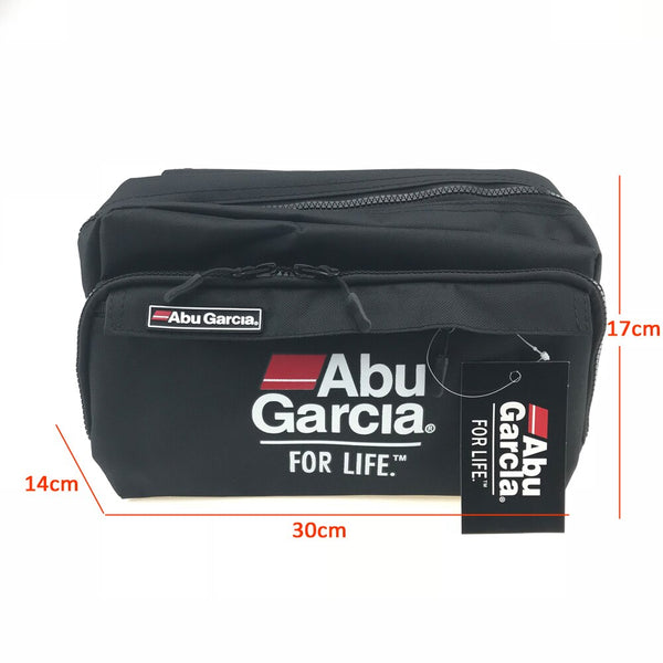 Fishing Tackle Waist Bag Waterproof Shoulder Pack Case Multi-pocket Lure Reel Line Hook Swivel Snaps Connector Storage Pack ABU