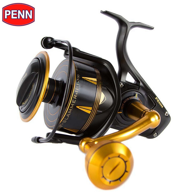 PENN SLAMMER III SLAIII 3500-10500 Spinning Fishing Reel 6+1BB Full Metal Body CNC Gear IPX6 Sealed Saltwater Reels