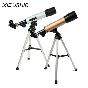 F36050M Professional Astronomical Telescope with Tripod Outdoor Monocular Zoom Telescope Spotting Scope for Watching Moon Stars