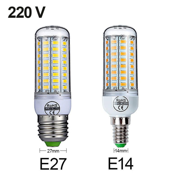 E27 LED Lamp E14 LED Bulb SMD5730 220V Corn Bulb 24 36 48 56 69 72LEDs Chandelier Candle LED Light For Home Decoration Ampoule