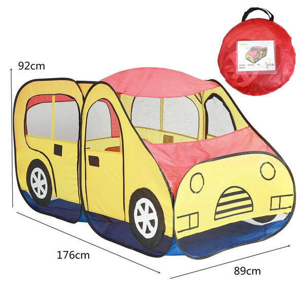 Car Shape Game House Tent Baby Indoor Outdoor Portable Foldable Funny Play Tent Ocean Ball Pool Kids Toy For Children Boys Girls
