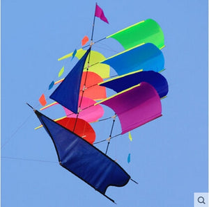 Outdoor Fun Sports  3D Stereo Sailboat Kite /Sailing Kites  With Handle And Line Good Flying