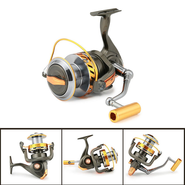 High Powerd 15KG Max Drag Spinning Reel 13 BBs 5.2:1 Spinning Fishing Reel Left/Right Interchangeable Boat Sea Fishing Reels
