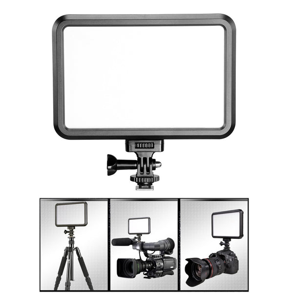 PT-12B Photo Studio Camera Light LED Video Light Photography Lighting Fill-in Light Panel with Hot Shoe Adapter for DSLR Cameras
