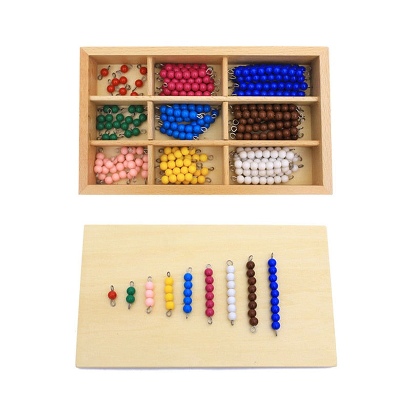 Kids Toys Montessori Materials Educational Wooden Toy Colorful Checker Board Beads Math Toys Early Childhood Preschool Training