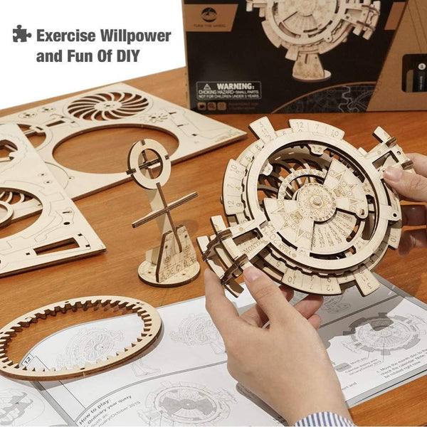 Robotime New Arrival DIY 3D Perpetual Calendar Wooden Puzzle Game Assembly Toy Gift LK201 for Dropshipping