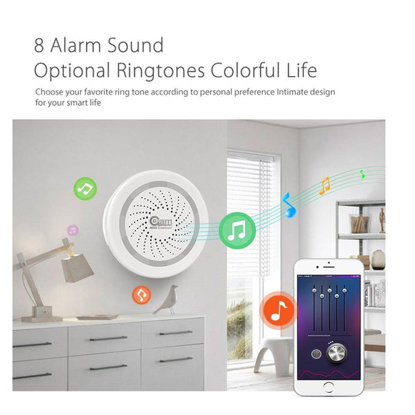 NEO Coolcam Wireless WiFi Siren Alarm Sensor for Home Smart Device Compatiable With Echo Google Assistant IFTTT