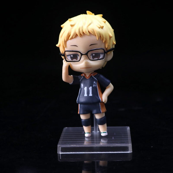 6 pcs/set Anime Haikyuu!!! PVC Action figure Model Toy for collection full set for boyfriend gift