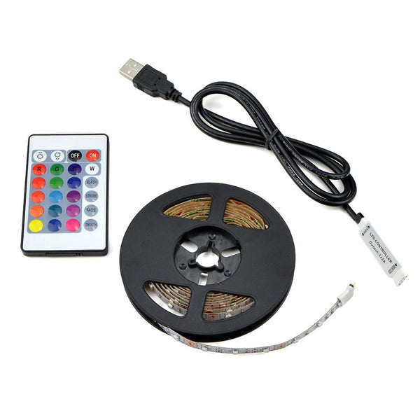 USB LED Strip lamp 2835SMD DC5V Flexible LED light Tape Ribbon 1M 2M 3M 4M 5M HDTV TV Desktop Screen Backlight Bias lighting