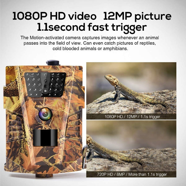 12MP 1080P Trail Hunting Camera  Wildcamera Wild Surveillance HT001B  Night Version  Wildlife Scouting Cameras Photo Traps Track