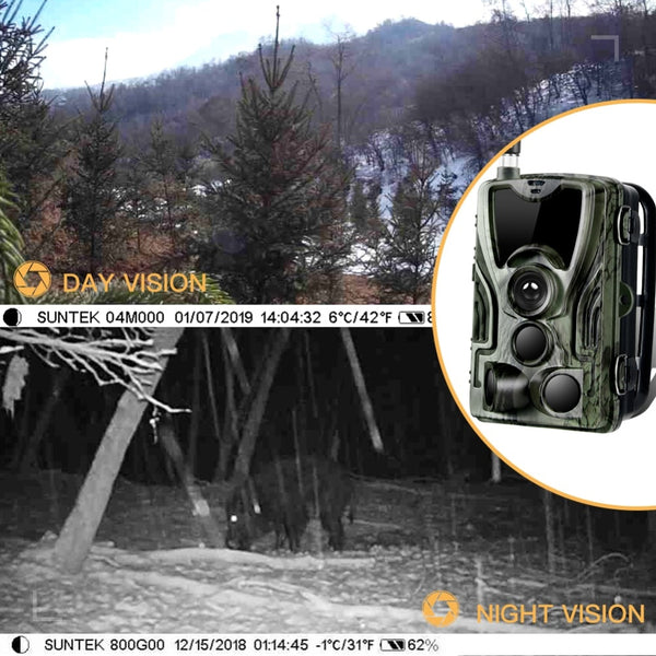 2019 New HC801M 2G Hunting Camera 16MP Trail Camera SMS/MMS/SMTP IP65 Photo Traps 0.3s Trigger Time Camera Trap Wild Cameras