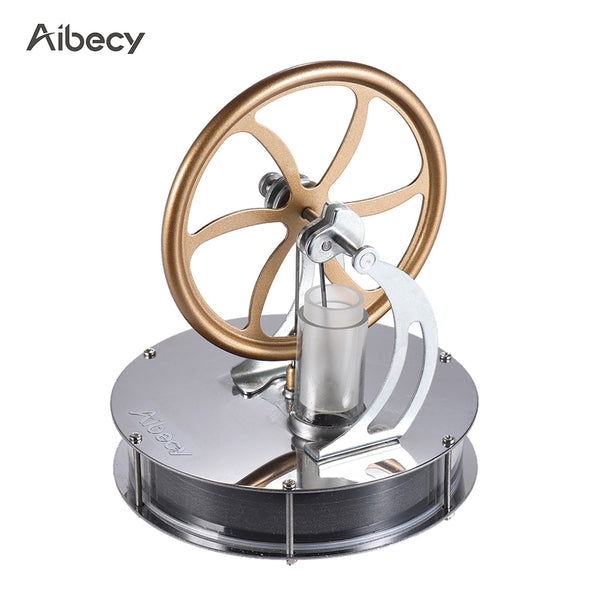 Aibecy Low Temperature Stirling Engine Motor Model Heat Steam Education DIY Model Toy Gift For Kids Craft Ornament Discovery Toy