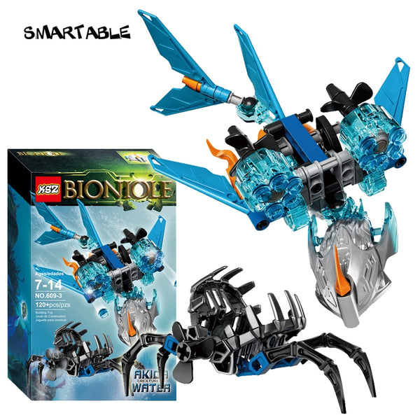 Smartable BIONICLE Akida Creature of Water+Gali Water Sea Shepherd Building Block Toy Compatible MajorBrand 71302+71307 BIONICLE