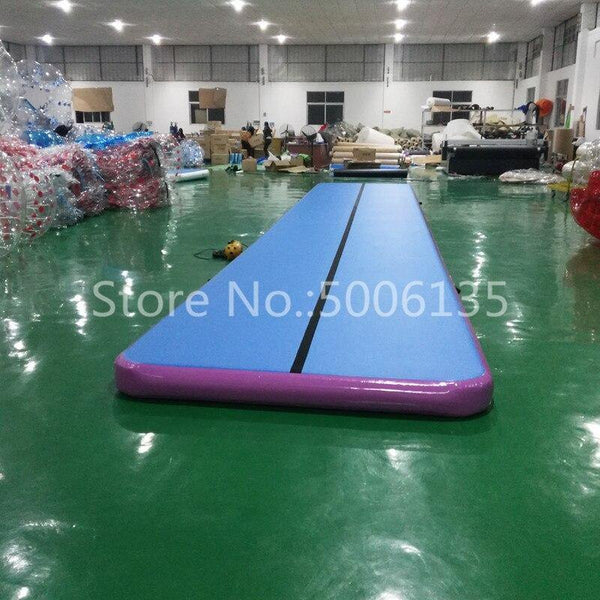 Free Shipping Free Pump, 3M Mintgreen Inflatable Air Track Gymnastics  Airtrack Floor Mats for Home Use Tumbling Mat