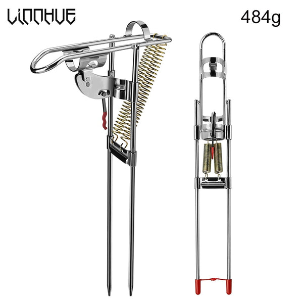 LINNHUE Fishing Rods Holders Spring Automatic Full Stainless Steel Adjustable Sensitivity Folding Fishing Accessories Bracket