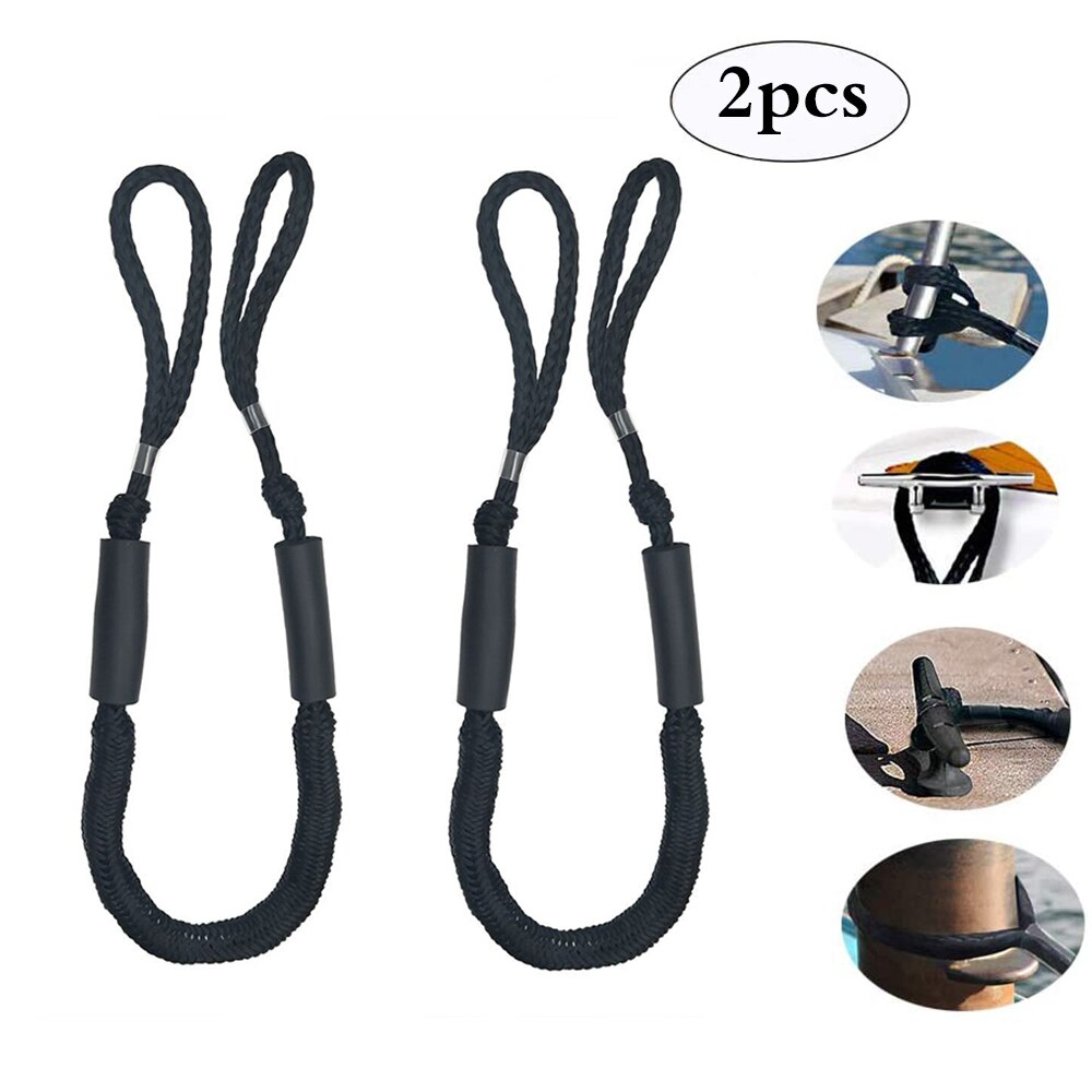 Heavy Duty Marine Mooring Rope Boat Bungee Dock Line Anchor Rope Bungee Cord Dockline Boats Kayak Water Accessories