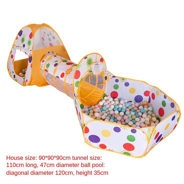 3WBOX 3In1 Play Tent Baby Toys Ball Pool Ocean Balls Foldable Kids Play Playpen House Outdoor tunnel dot game ocean pool fence