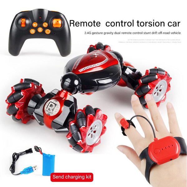 RC Car 4WD Radio Control Stunt Car Gesture Induction Twisting Off-road Vehicle Light Music Drift Toy High Speed Climbing RC Cars