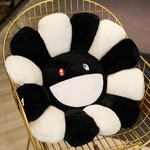 New 40cm/60cm Kawaii Smile Sunflower Pillow Soft Flower Stuffed Doll Colorful Plush Toy Cushion Gift