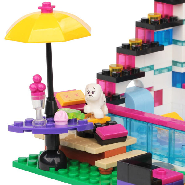 HUIQIBAO 760PCS Pop Star Livi's House Building Blocks Friends Series For Girls Figures City Bricks Set Educational Children Toys
