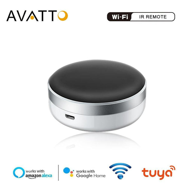 AVATTO WiFi IR Remote Controller,2.4G Infrared Universal Smart Remote,Voice Control work with Alexa,Google Home Tuya smart home